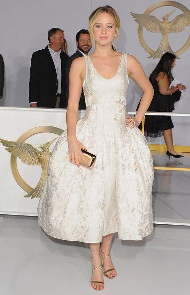 listopad 2014, premiera filmu Igrzyska śmierci Kosogłos cz. 1 w Los Angeles (suknia Dior Couture)