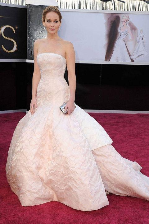 luty 2013, rozdanie Oscarów (suknia Dior)
