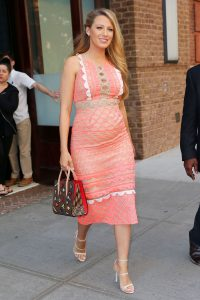 Blake Lively wears a fabulous pink outfit in New York