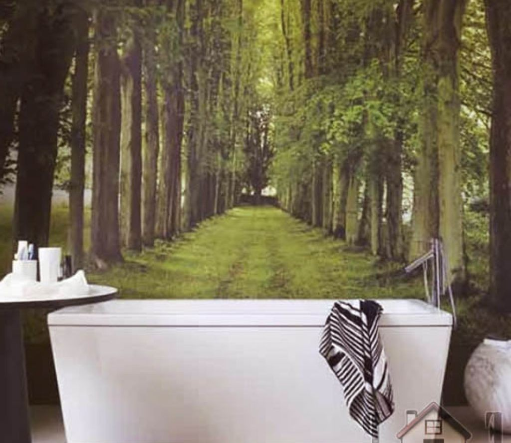 amazing-3-d-waterproof-bathroom-wallpaper-with-nature-theme