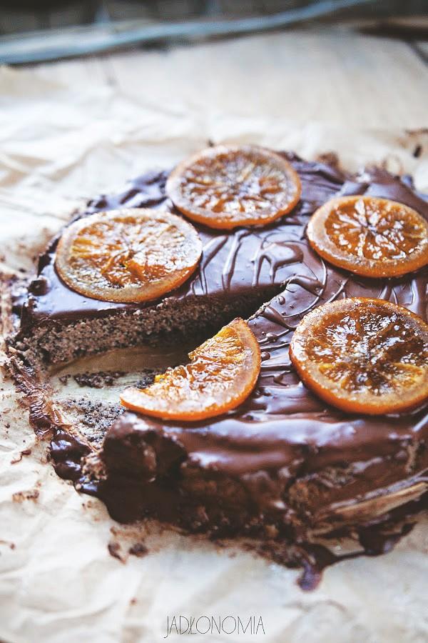 Bezglutenowy makowiec w czekoladzie