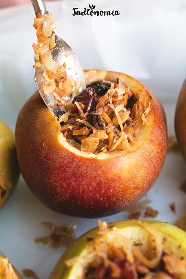 Jabłka faszerowane kiszoną kapustą